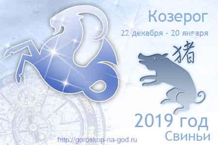 Козерог 2019 год