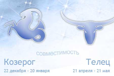 гороскоп совместимости тельца с козерогом
