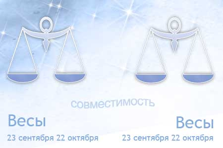 Весы и Весы - совместимость